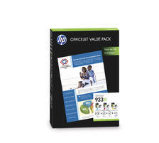 933XL Valuepack CMY zu HP CR711AE, Paper A4 25/50Bl